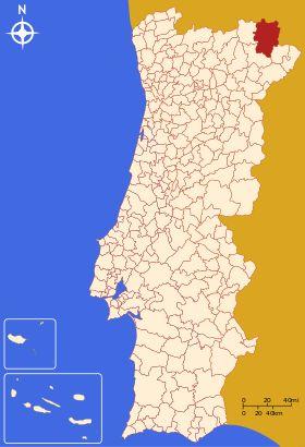 Localização de Bragança