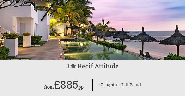 Great savings on your Mauritius holidays when you plan a 7-night stay at Recif Attitude, a classy resort by the Indian Ocean.