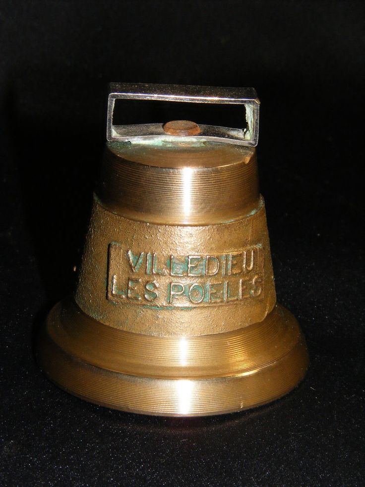 CLOCHE  BRONZE  GRAVEE VILLEDIEU LES POELES COLLECTION