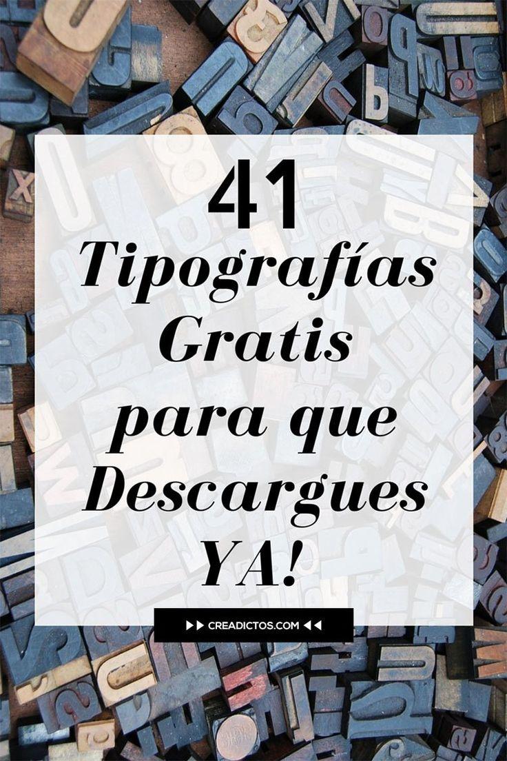 41 Tipografias gratuitas que deberias tener entre tus archivos. - Creadictos