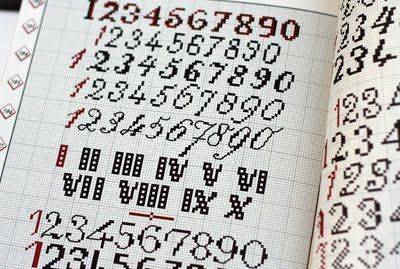 numbers crossnstitch | Trans-craft-inental: Cross Stitch Letters BIBLE!