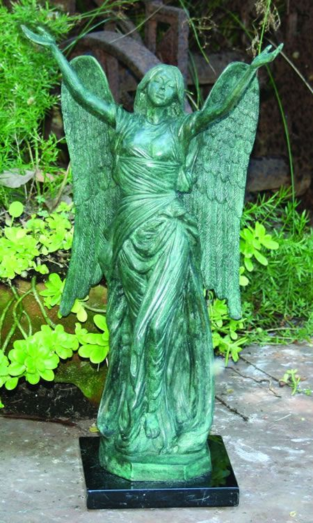 celestine garden angel statuary statue sculpture in bronze available at. Black Bedroom Furniture Sets. Home Design Ideas