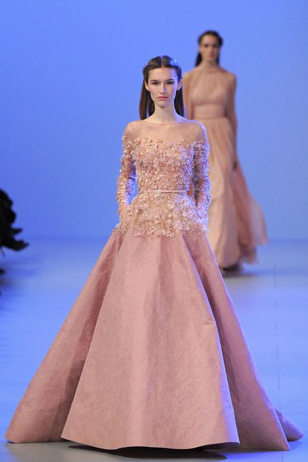 The Elie Saab Spring 2014 Couture Collection Showed in Paris #Couture #Fashion