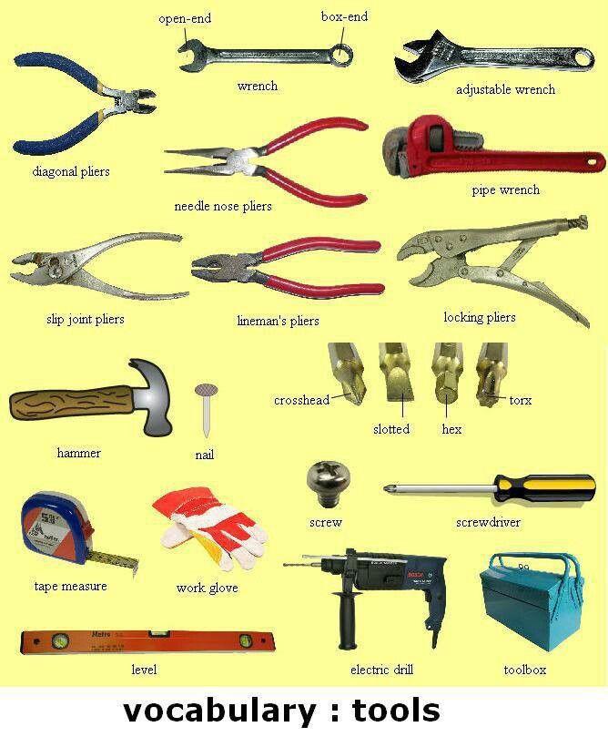 tools vocab