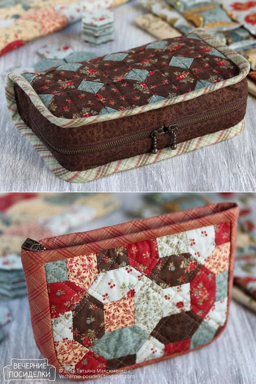 Two beauticians - workshops / Two quilted cosmetic bags - Evening gatherings