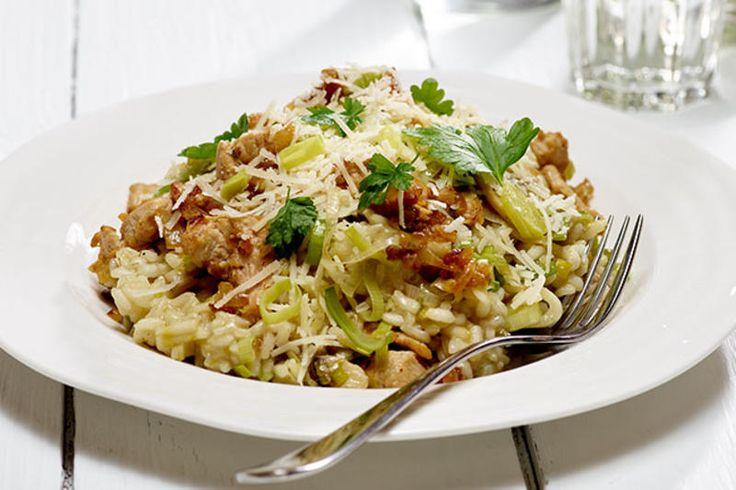 Risotto med kylling og sopp