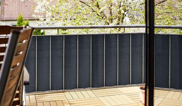 Hagebau Gartenmobel Sets : Der Sichtschutz Balkongeländer Rattan ist aus Polyrattan gefertigt