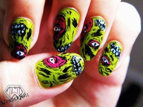 Zombie nails! - 60 Best Halloween Zombie Nail Art Images On Pinterest Halloween