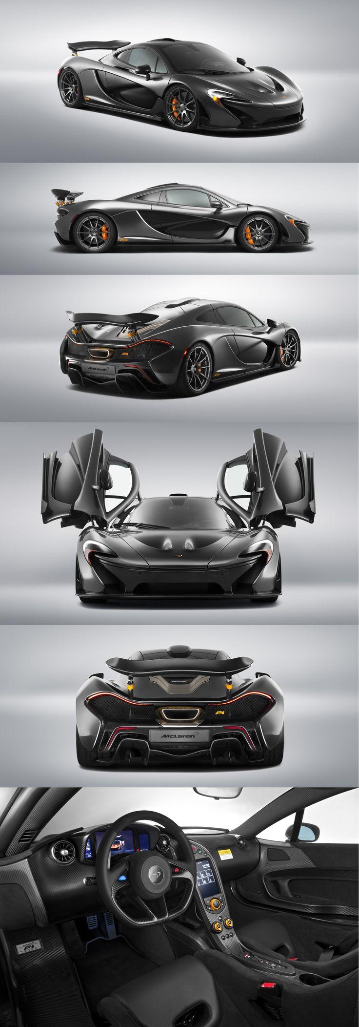 McLaren P1 in Stealth Grey and Orange