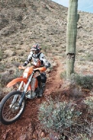 Dirt Biking to desert from mountains and back
