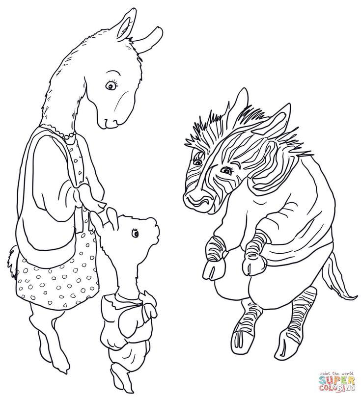 26 best llama llama party images on pinterest birthday for Llama llama red pajama coloring page