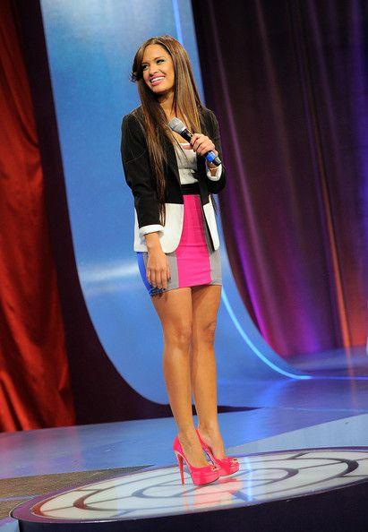 """Rocsi Diaz Photos Photos - BET host Rocsi Diaz on the set of BET's """"106"""