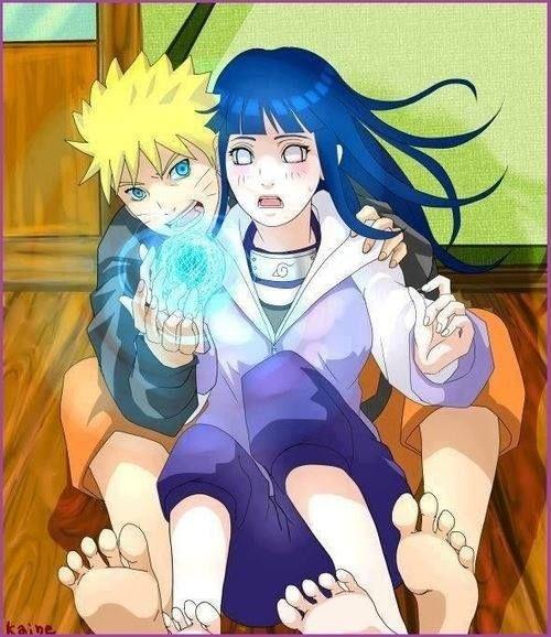 Haha Naruto showing Hinata how he does the Rasengan.