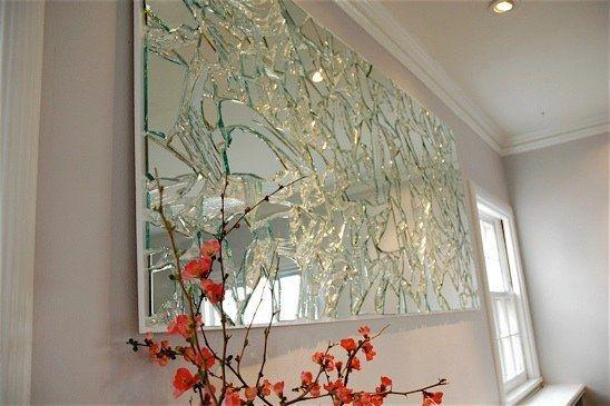 Decoración para pared con espejos rotos | 23 Maneras inesperadas de revivir tu basura