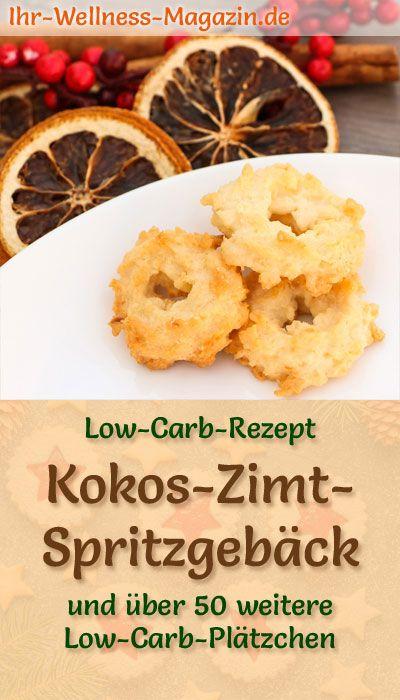 Low Carb Kokos-Zimt-Spritzgebäck – einfaches Plätzchen-Rezept für Weihnachtskekse