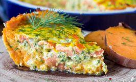 Smoked Salmon Tart with Sweet Potato Crust | Roxy's Kitchen