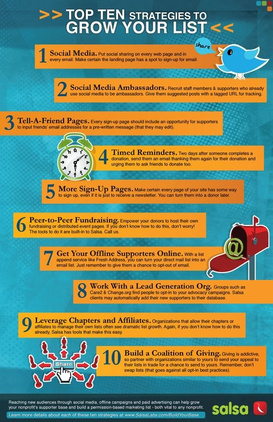 infographic 10 strategies to grow your list.jpg (550×850)