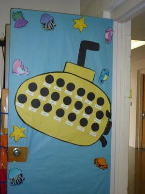 Awesome! Put each student's name in a porthole on your door :)