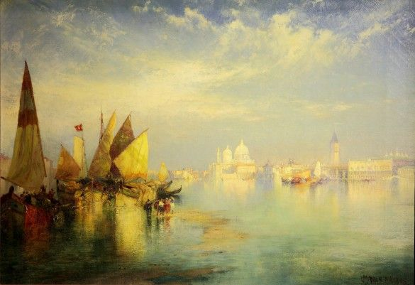 Thomas Moran (American, 1837 - 1926), The Doge's Palace, Grand Canal, Venice, 1898, oil on canvas, 14 x 20 in., Bequest of Ninah M. H. Cummer, C.0.165.1.