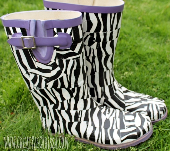 Duct Tape Rainboot Rescue ~ Creative Green Living