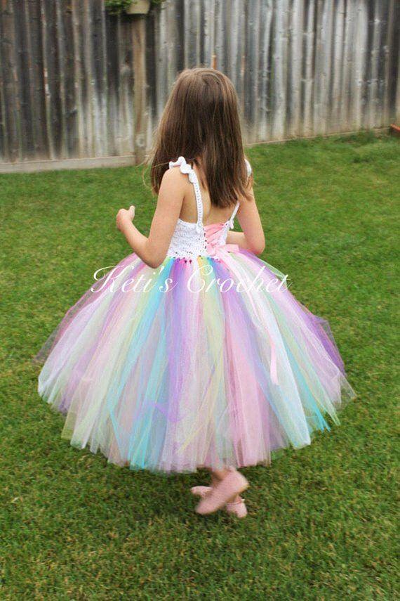 Vestido Del Tutú Arco Iris Tutu Vestido Arco Iris Unicornio