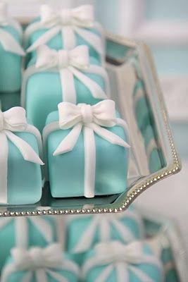 dulces con forma de cajita de tiffany