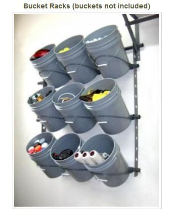 Bucket rack! Need to do thia. We have so many 5 gallon buckets and loose items.