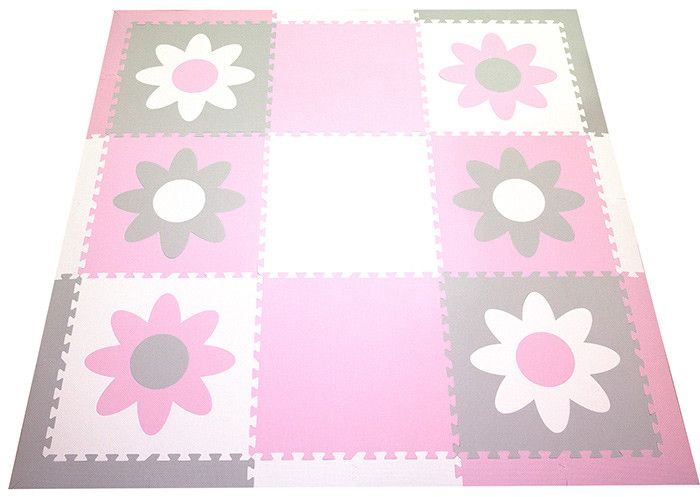 SoftTiles Flowers Children's Play Mat Set with Borders