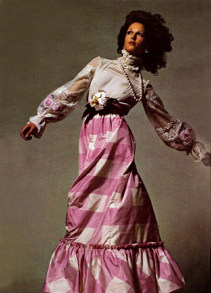 1972 Valentino maxi skirt, Vogue Italia