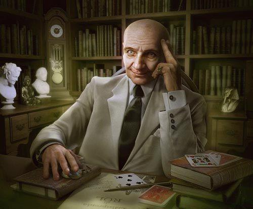 Gustavo Rol in un ritratto di Pasquale Giacobelli