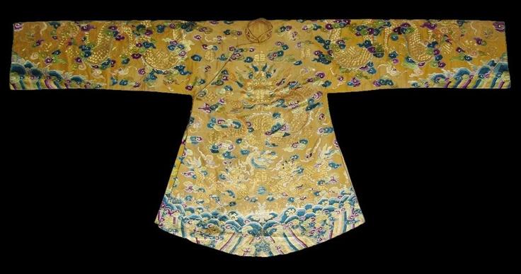 Robe de cérémonie dun empereur dAnnam au XIXe siècle.
