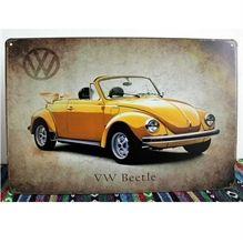 Emaljeskilt VW Beetle - NiceWall.dk