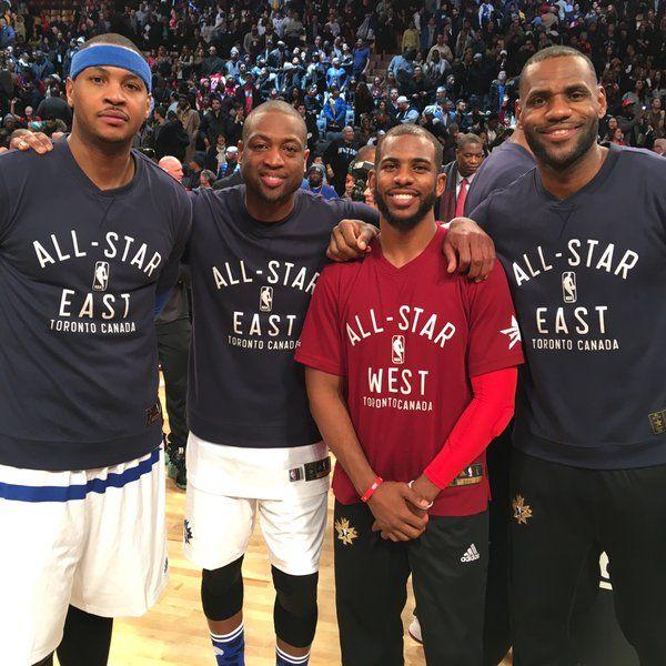 Brotherhood. Carmelo Anthony Dwyane Wade Chris Paul LeBron James