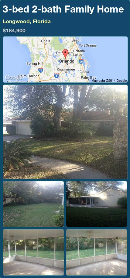3-bed 2-bath Family Home in Longwood, Florida ►$184,900 #PropertyForSale #RealEstate #Florida http://florida-magic.com/properties/88434-family-home-for-sale-in-longwood-florida-with-3-bedroom-2-bathroom