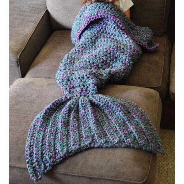Cute Knit Mermaid Blanket ~ every little girl wants one
