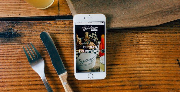 The Woodsman Tavern restaurant / website by Needmore Designs