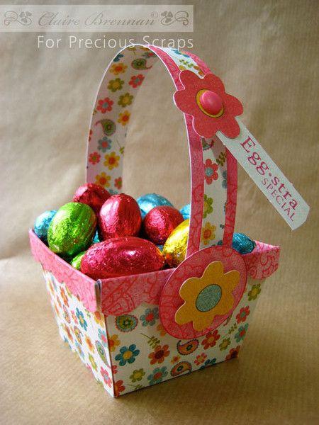 A imprimer : le gabarit panier de Pâques