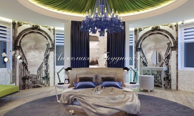 Дизайн интерьера апартаментов в башне для девушки в стиле Поп Арт
