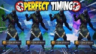 fortnite season 6 perfect timing compilation 13 dances emotes at the same time - fortnite perfect timing emotes
