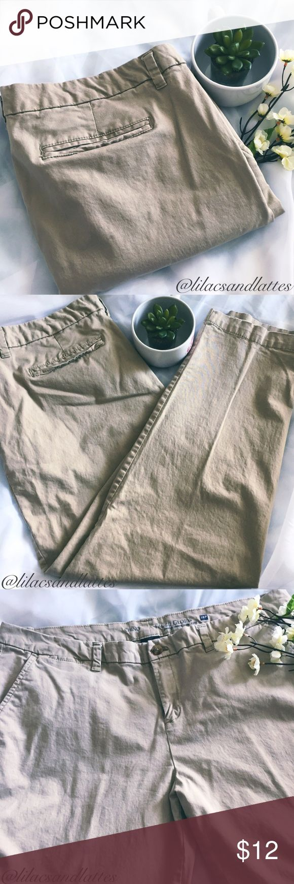 "{NWOT}Plus🌻Tan Chino Pants🌻18Petite {Faded Glory} Tan Chino Pants • NWOT • In Perfect Condition, No Flaws🌻Stretchy Material • 98% Cotton, 2% Spandex🌻Size 18Petite • 19.5"" waist, 11"" rise, 27.5"" inseam🌻Only reasonable offers accepted; please use chart in listing photos. No trades. 🛍Bundles of 3 or more listings save 10% on entire purchase🛍Thank you🌻 Faded Glory Pants"