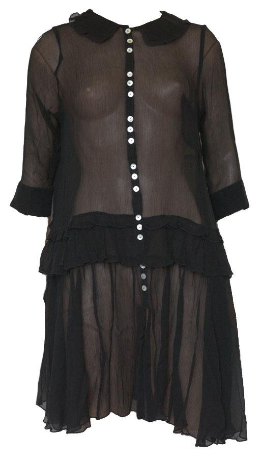 BY TI MO Black Silk Dress