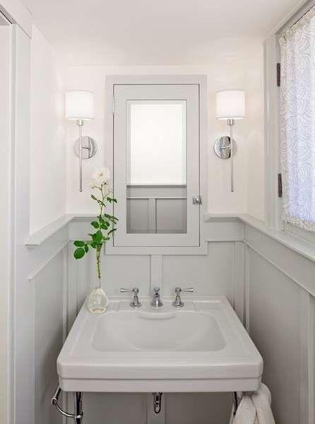 Idee per l'arredamento di un bagno piccolo - Decorare casa piccola, specchio in bagno