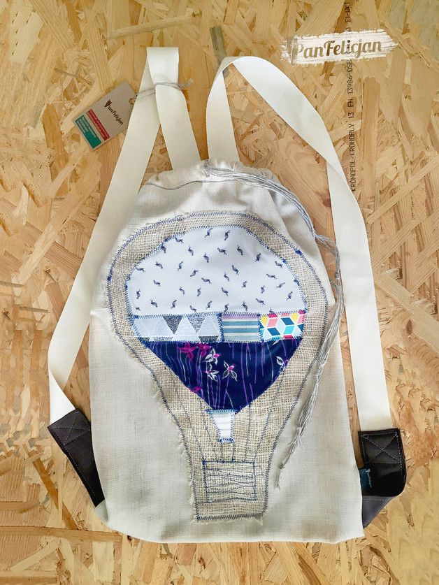 plecak z BALONEM - PanFelicjan  polish embroidery, backpack