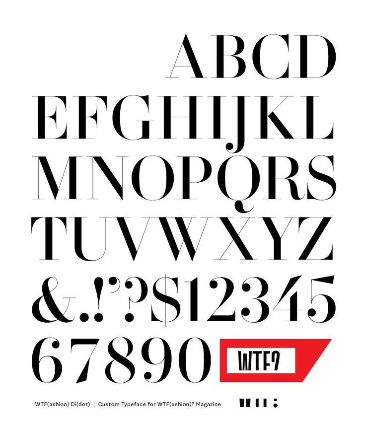 Behance :: Editing WTF Di(dot) Custom Typeface by Letterhead