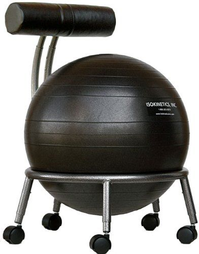TOP 5 BALL CHAIRS FOR OFFICE ERGONOMICS // Seen here: the Isokinetics Fitness Ball Chair
