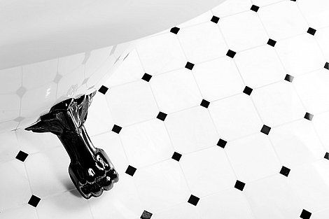 """Magnificent Black & White marble mosaïc tiles """"Octagon"""" by @Dunin (3/3)"""