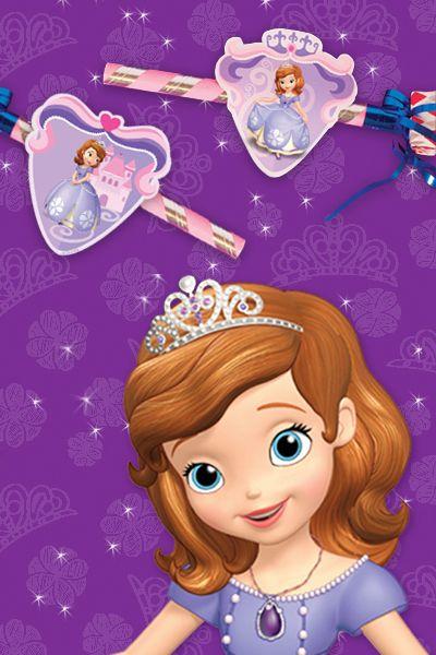 Décorations pour cotillons Princesse Sofia