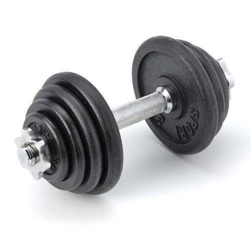 Dumbellset RS 15 kg  Description: De Dumbellset RS 15 kg is ideaal voor een gevarieerde training. Omdat je kunt trainen met een gewicht van 2 tot 15 kg bepaal je zelf de intensiteit van je training ook zorgt het ervoor dat je al je spiergroepen met een aangepast gewicht kunt trainen. Daarnaast biedt de Dumbellset RS 15 kg de mogelijkheid om je training langzaam op te bouwen. Dit maakt deze set geschikt voor zowel de beginnende als de gevorderde trainer.De set is gemaakt van een hoge…