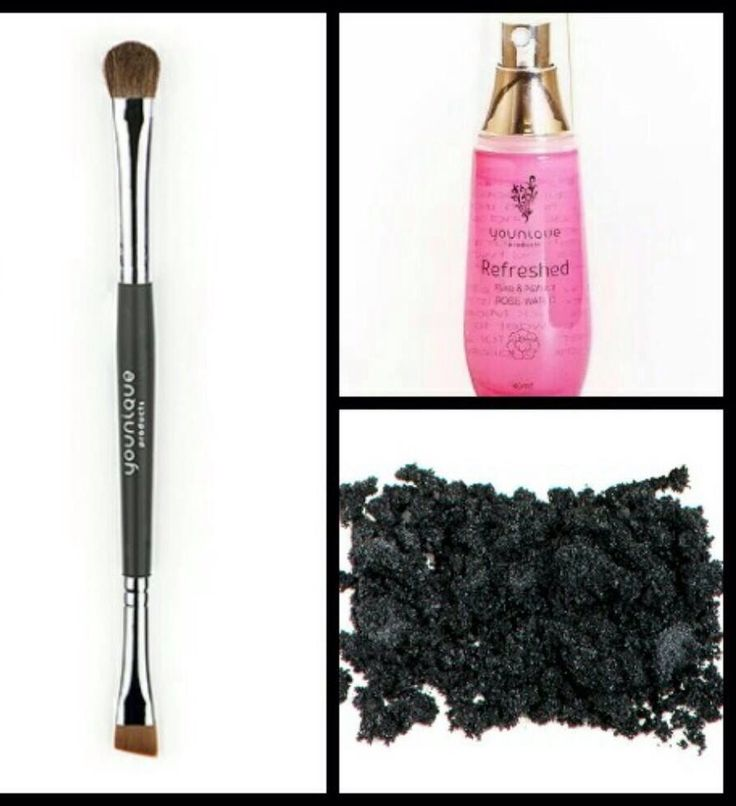Rose water and mineral pigment (risqué) perfect eyeliner !!