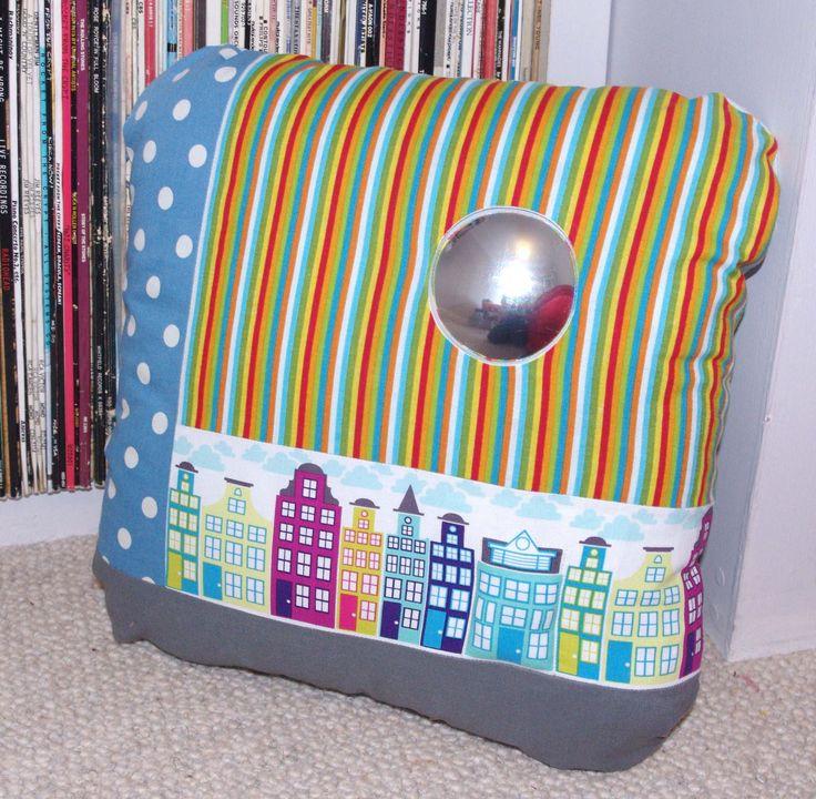 Rainbow street cushion